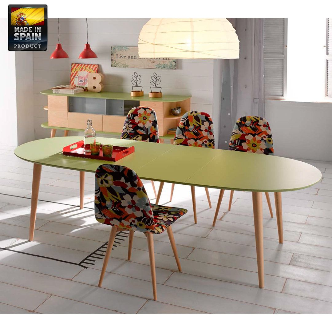 mesa de comedor extensible elixir retro vintage with table up down extensible. Black Bedroom Furniture Sets. Home Design Ideas