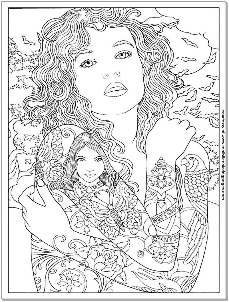 adult coloring pages tattoos | coloring | Pinterest | Adult ...