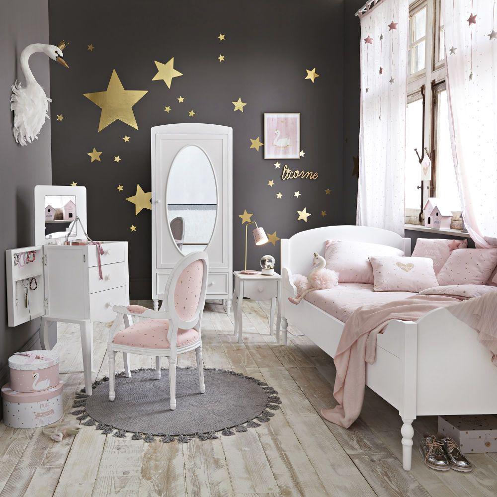 Lit Blanc 90x190cm Maisons Du Monde Girl Room Girl Room Inspiration Baby Room Decor