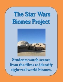This is an extensive 12-page lesson plan packet using Star Wars to teach biomes. The lesson plan that follows includes a ten-question assessment that (1) asks students watch scenes from the Star Wars films to identify real-world biomes including temperate deciduous forest, desert, Mediterranean chaparral, tropical rain forest, alpine, tundra, and temperate coniferous forest; and...
