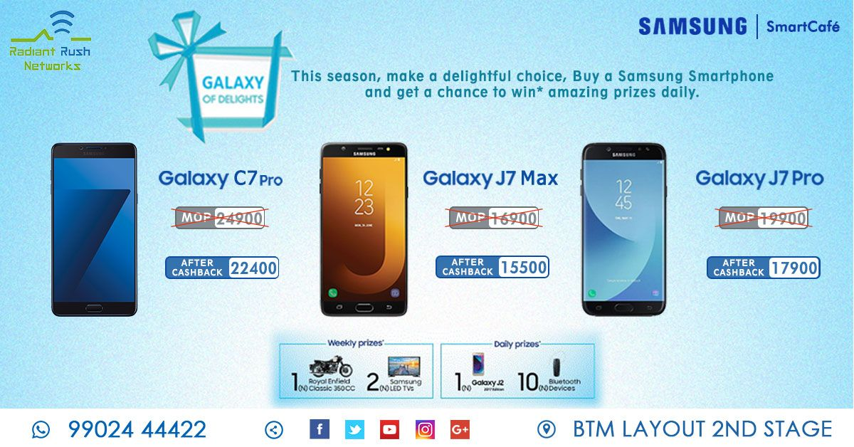 Samsung Galaxy of delights! Here is your chance to win Royal