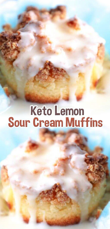 Keto Lemon Sour Cream Muffins Sour Cream Muffins Keto Recipes Easy Low Carb Keto Recipes