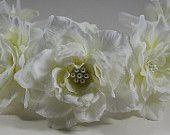 Flower Girl Headband, Flower Girl Hairband, Flower Girl Hair Piece, Bridal Wedding Hair Accessories,  Wedding Flower Crown