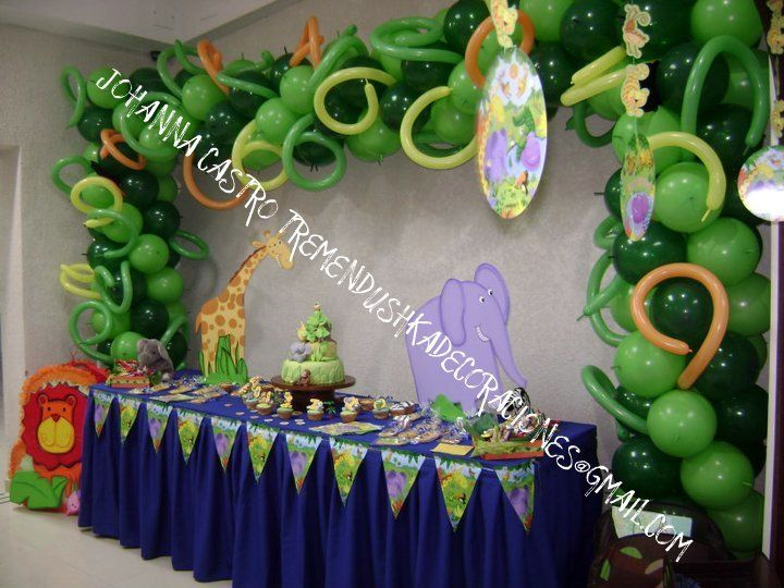 Fiesta tematica de la selva realizada por johanna castro for Decoracion hogar venezuela