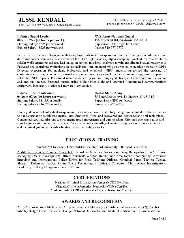 Federal Government Resume Example -   wwwresumecareerinfo - Fire Training Officer Sample Resume