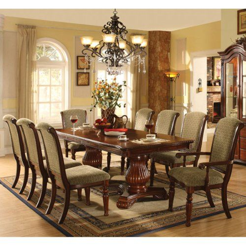 Majesta 9Piece Dark Cherry Dining Table Set 247Shopathomehttp Captivating Dark Cherry Dining Room Set Design Inspiration