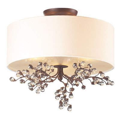 Darby Home Co Fullwood 3 Light Semi Flush Mount