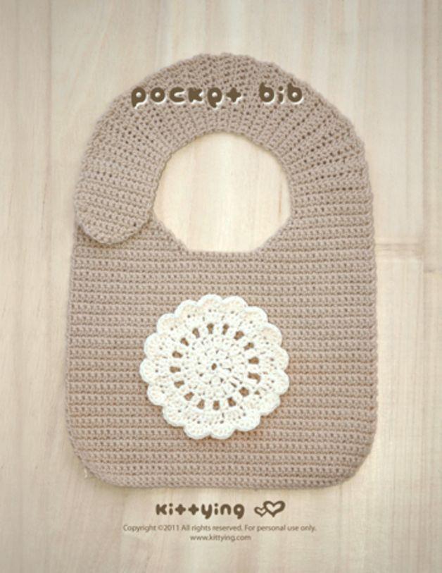 Baby-Tasche Lätzchen Häkelmuster von Kittying | Lätzchen ...