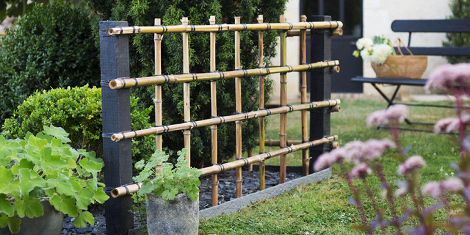Fabriquer Une Palissade En Bambou Pour Le Jardin Avec Images