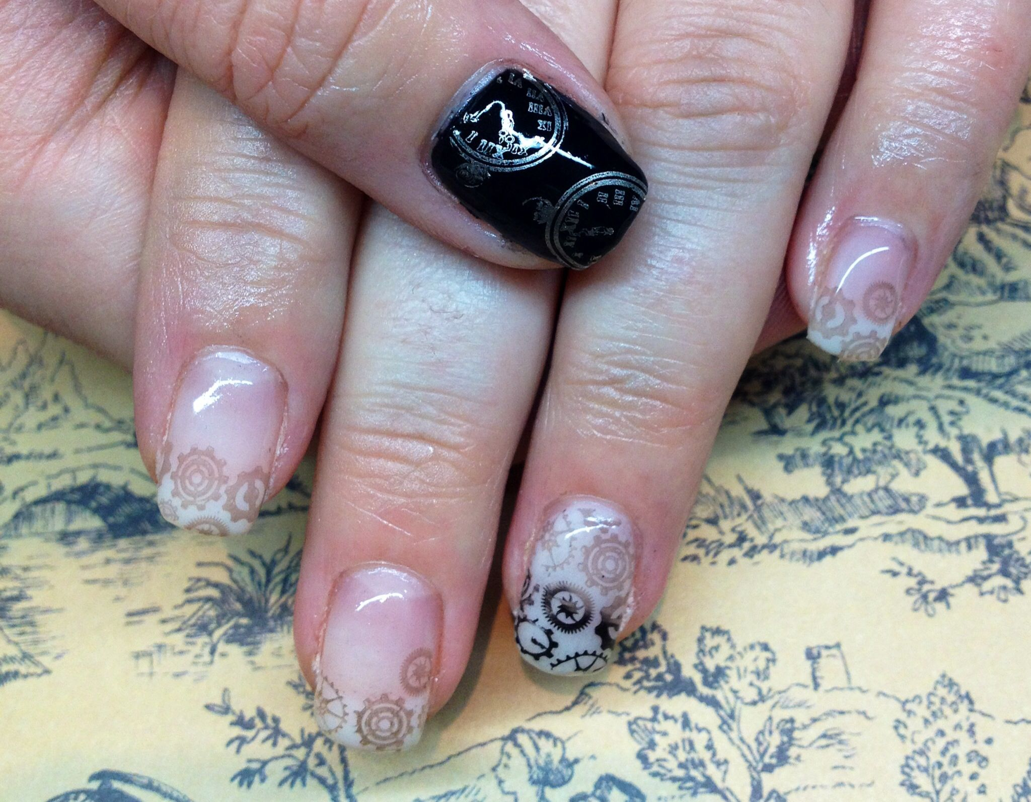 Steam punk nails   Nails, Punk nails, Gel nails