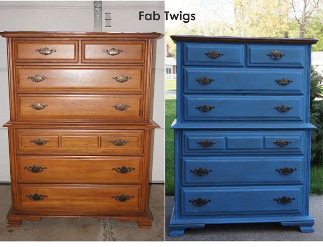 Tall Dresser Makeover With Greek Blue Annie Sloan Chalk Paint Chest Of Drawers Pai Painted Furniture Colors Shabby Chic Dressers Makeover Shabby Chic Dresser