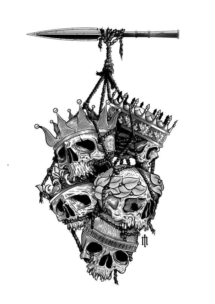 Dead Kings Pirate Tattoo Viking Tattoos Skull Tattoo Design