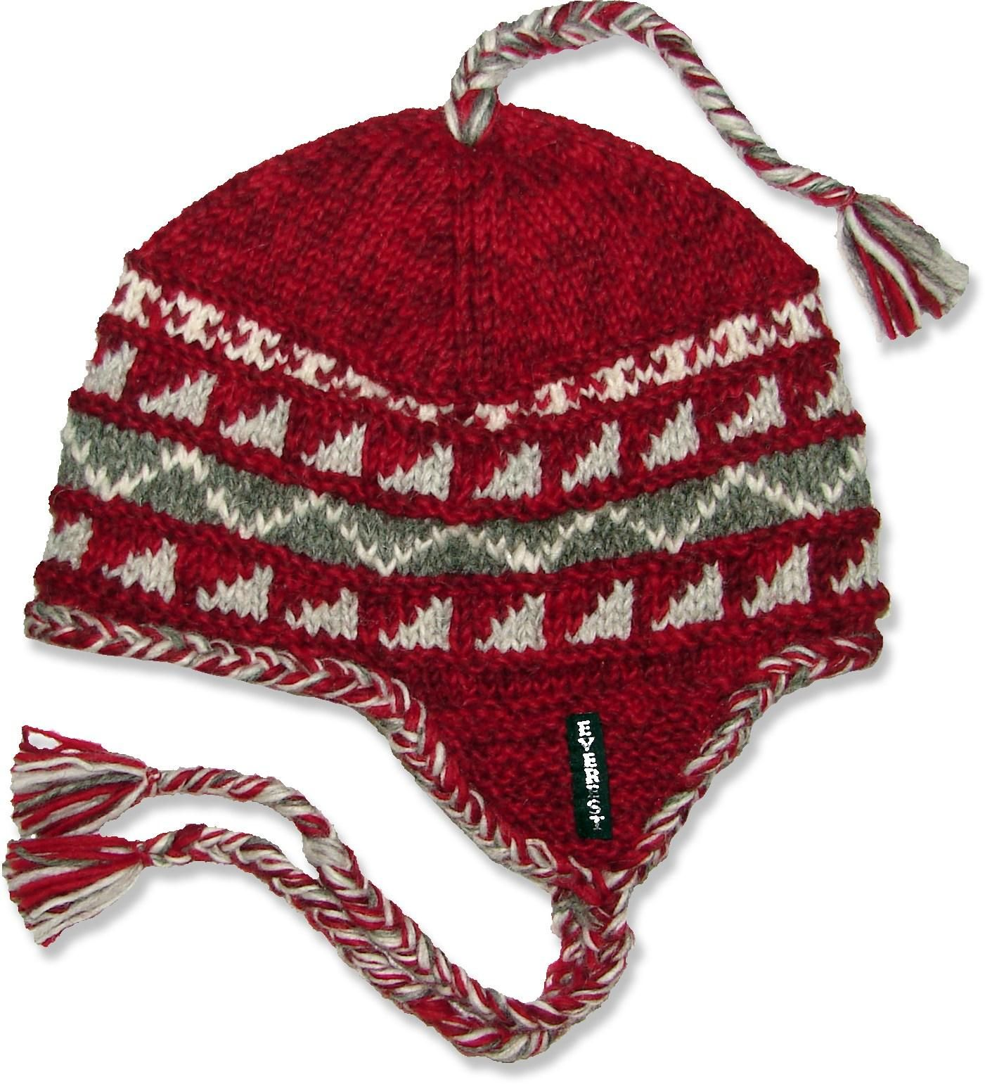 This wool Everest Designs Sherpa earflap hat is handcrafted in Nepal.   REIGifts 7bc71b5fdfd