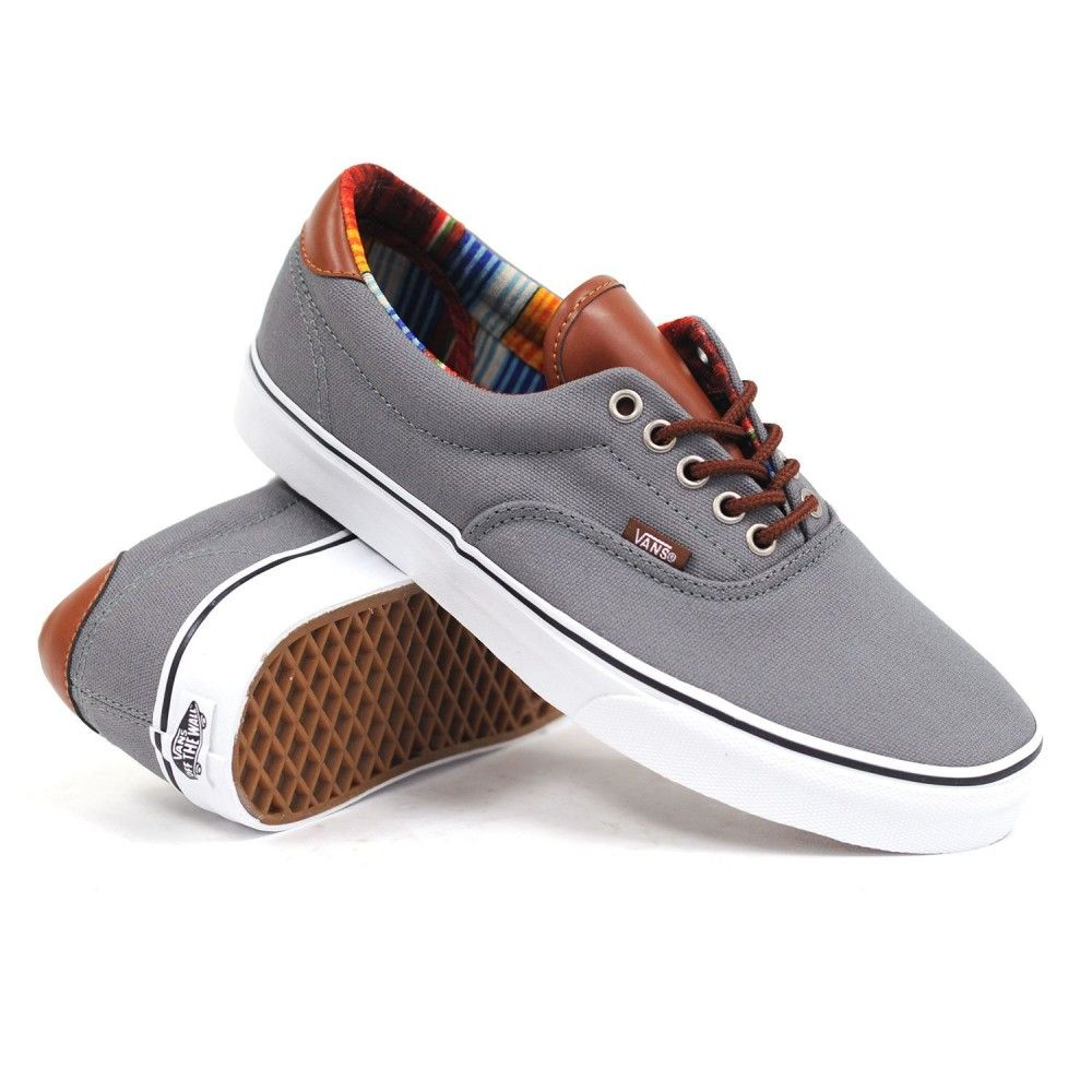 Vans Era 59 (C&L Steel Grey/Multi Stripe) Mens Skate Shoes
