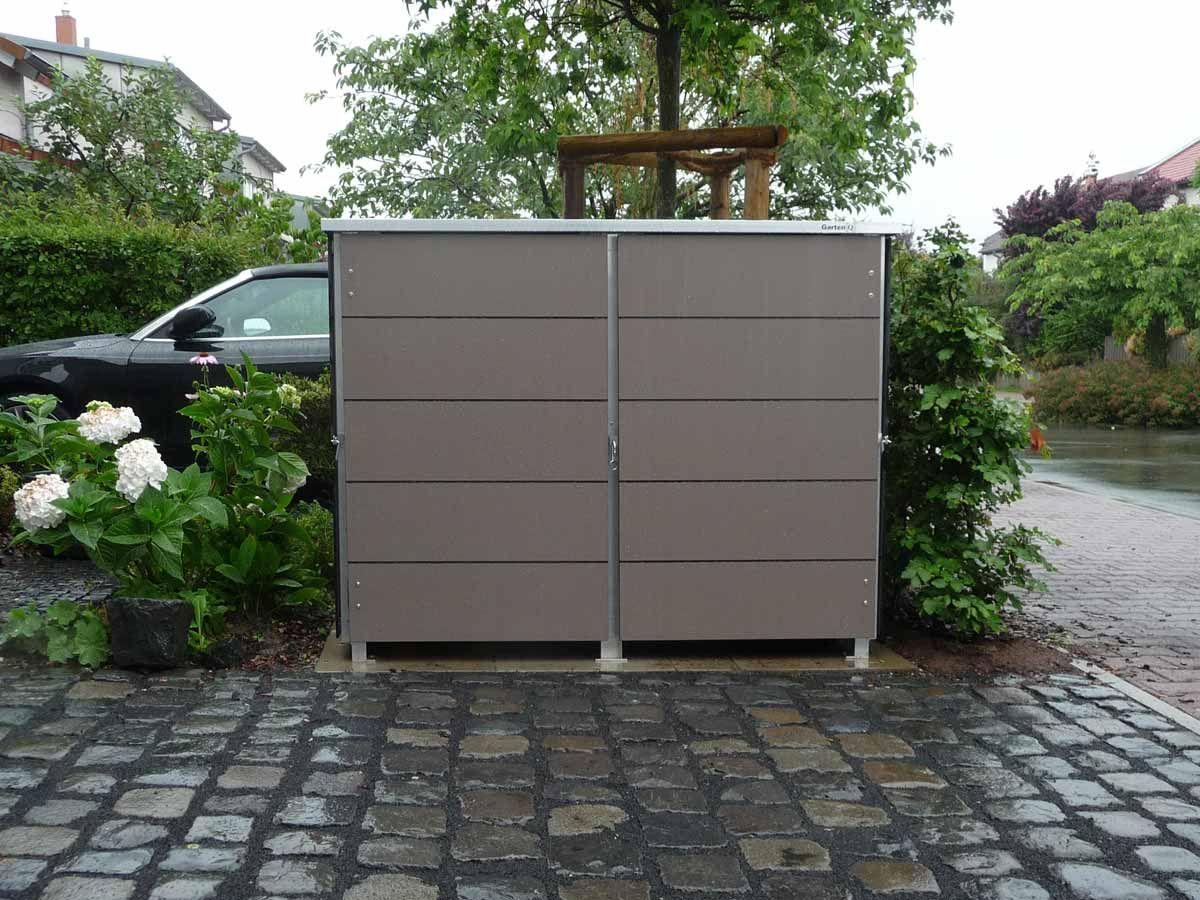 Mulltonnenbox Mullbox Aus Metall Oder Edelstahl Garten Q Gmbh Mulltonnenbox Mulltonnenhaus Box