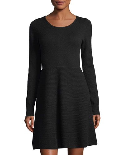 Gray Dress Formal Linen Dress For Women Fit And Flare Dress Etsy Fit And Flare Dress Long Sleeve Dress Spring Dresses Casual