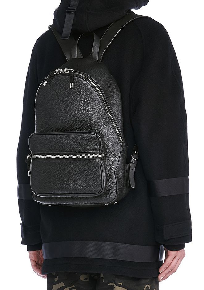 68bbb1b5db55 ALEXANDER WANG new-arrivals-bags-man BERKELEY BACKPACK IN SOFT PEBBLED BLACK  WITH RHODIUM