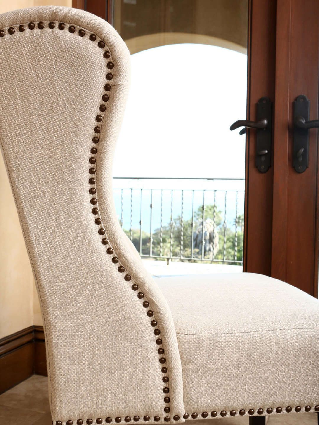 Side Chairs For Bedroom Kyrra Tufted Wingback Dining Chair By Abbyson Living At Gilt