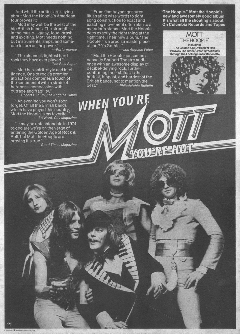 When You Re Mott You Re Hot Mott The Hoople Hoople Best Albums