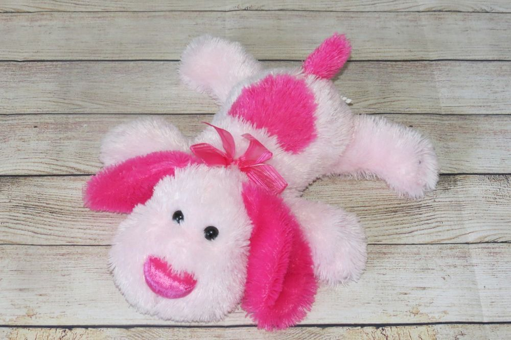 WalMart Stores Pink Puppy Dog Heart WalMart Fluffy Bow