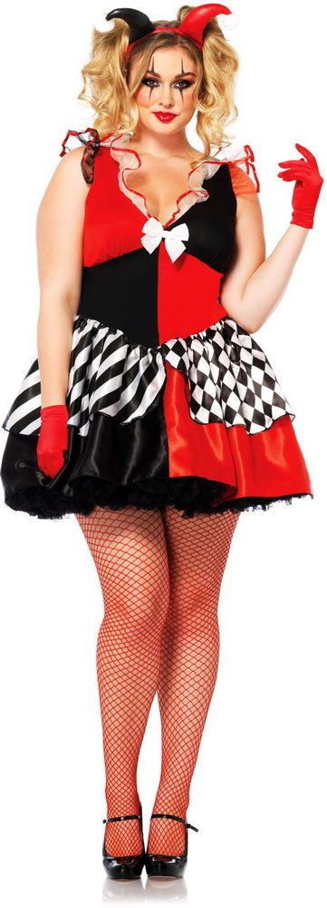 Womens Court Jester Joker Harley Quinn Harlequin Halloween Costume ...