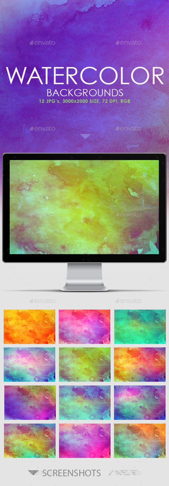 12 Real Watercolor Backgrounds Watercolor Background Background