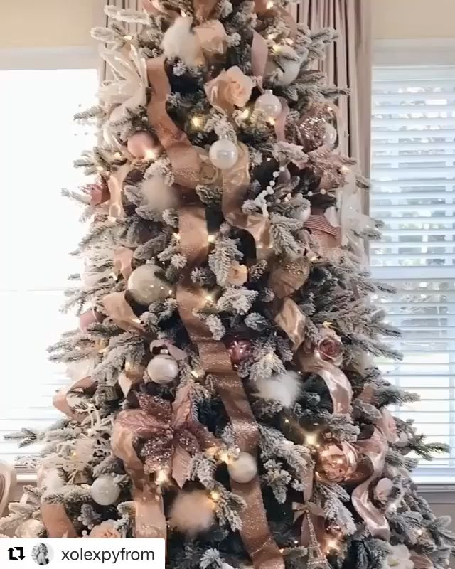 Ribbon Christmas Tree -   17 christmas tree decor 2020 pink ideas
