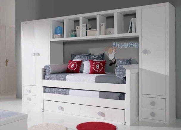 Habitación juvenil fabricada en laca de alta calidad | Camas Nido ...