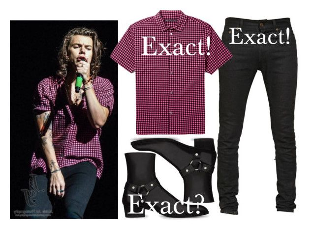 """""""Harry performing in Perth 2/20/15"""" by nikka-phillips ❤ liked on Polyvore featuring Seed Design, Yves Saint Laurent, Marc by Marc Jacobs and harrystyles"""