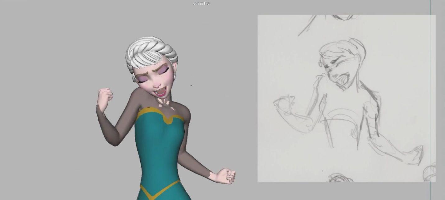 Making of Elsa's Hair in Frozen