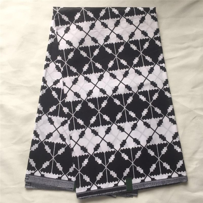 Find More Fabric Information About African Ankara Print Wax Black White Color Java 100