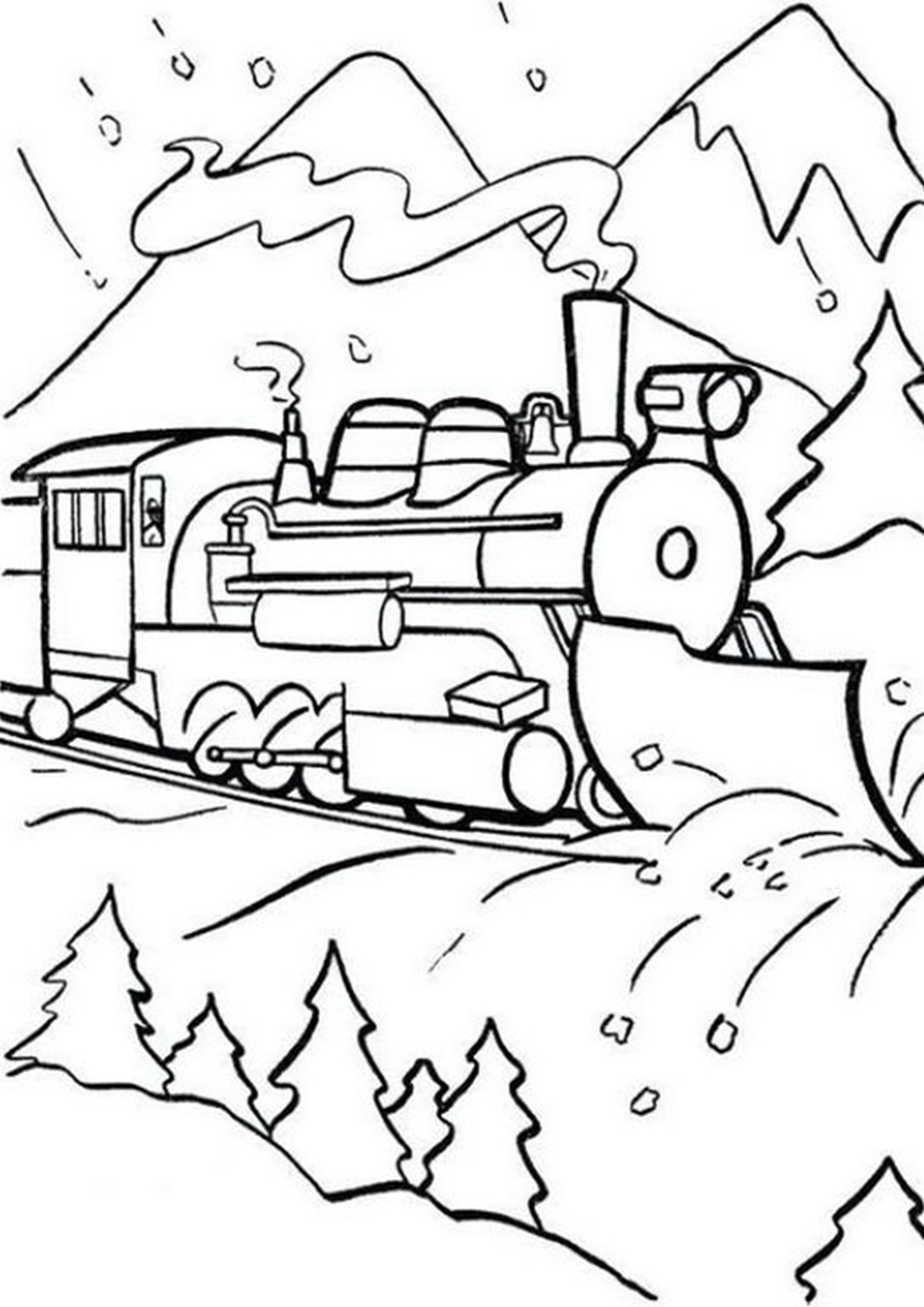 Free Easy To Print Train Coloring Pages Train Coloring Pages Free Coloring Pages Superhero Coloring Pages