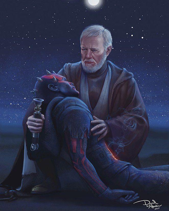 Old Wounds | Obi-Wan Kenobi & Darth Maul | Star Wars | #starwars #starwarsart #starwarsfanart #sith #jedi #darthmaul #obiwankenobi #startv