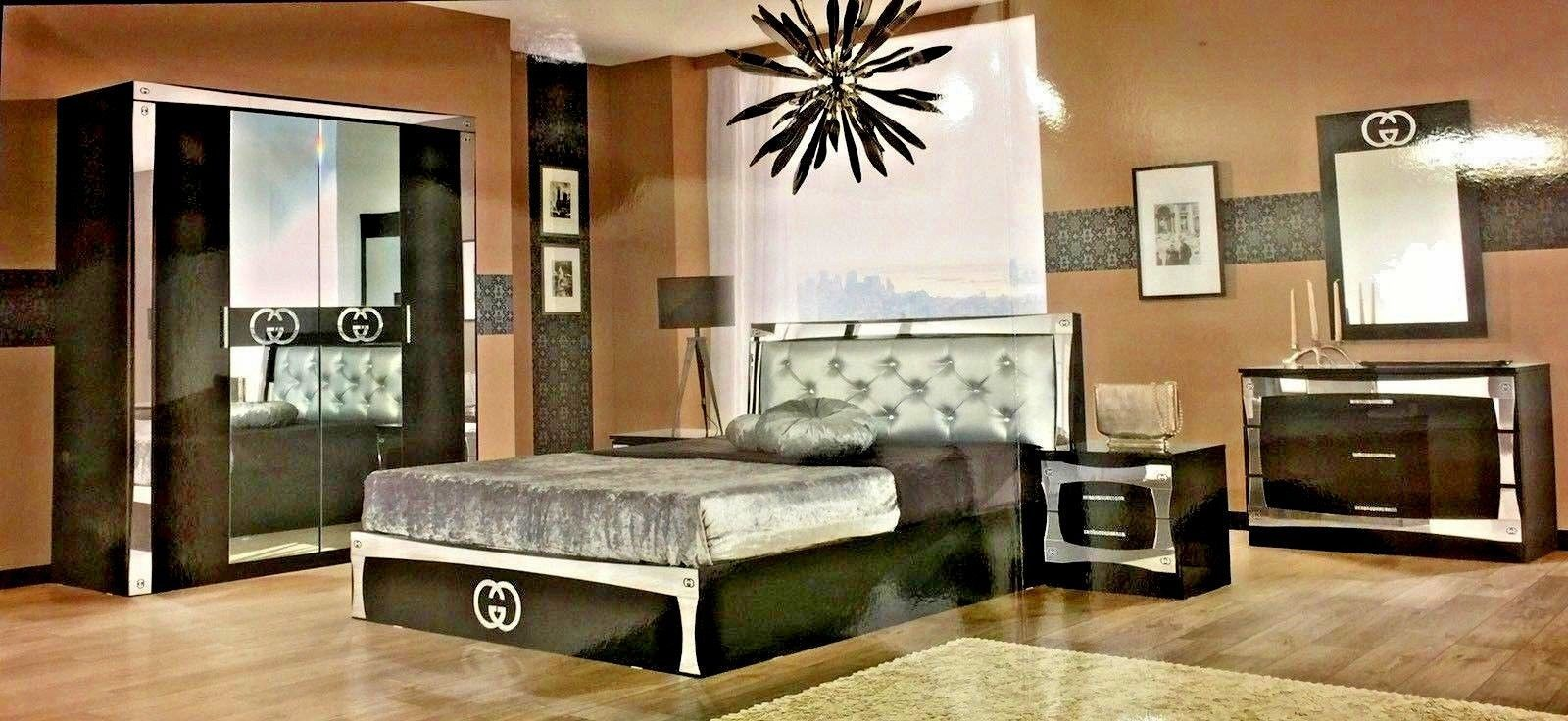 Luxurious Gucci Style Italian 6 Items Bedroom Set Double Or King Size Bed Frame Ebay Luxuryki King Size Bed Frame Luxury Bedroom Sets King Size Bedroom Sets