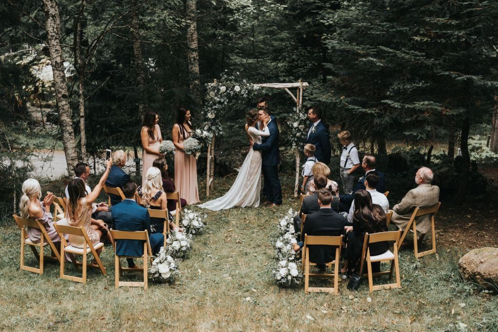 Intimate Boho Wedding At Olympic National Park Wa Vanessa Tim Wandering Weddings In 2020 Backyard Wedding Ceremony Small Outdoor Wedding Small Weddings Ceremony