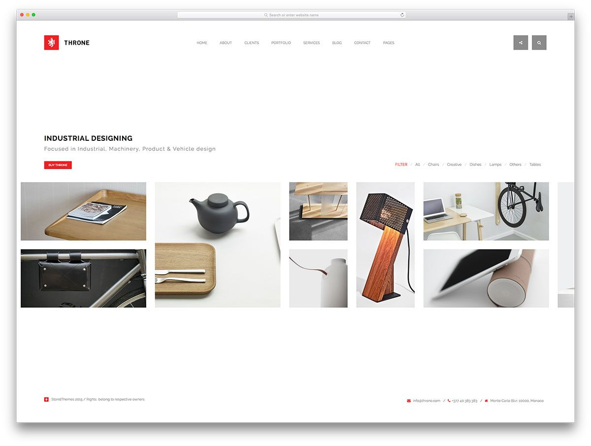Throne Unique WordPress Portfolio Website Template