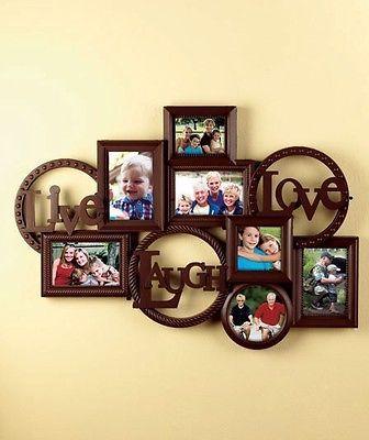 Live Laugh Love Photo Collage Picture Frame Espresso NEW | Collage ...