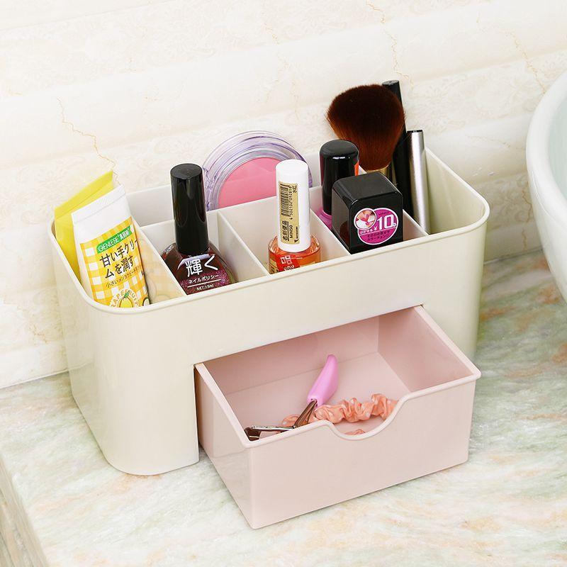 NEW Plain line Six grid  Desktop Drawer Storage Box Sundries Case Small Objects Box Wholesale Desktop Organizer Kitchen toilet #Affiliate