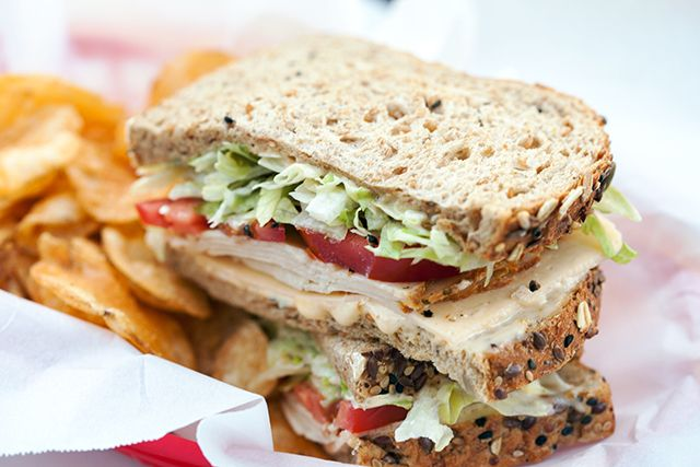 Chicken and Havarti Deli Sandwich with Sage-Peach Mayo | spachethespatula.com #recipe