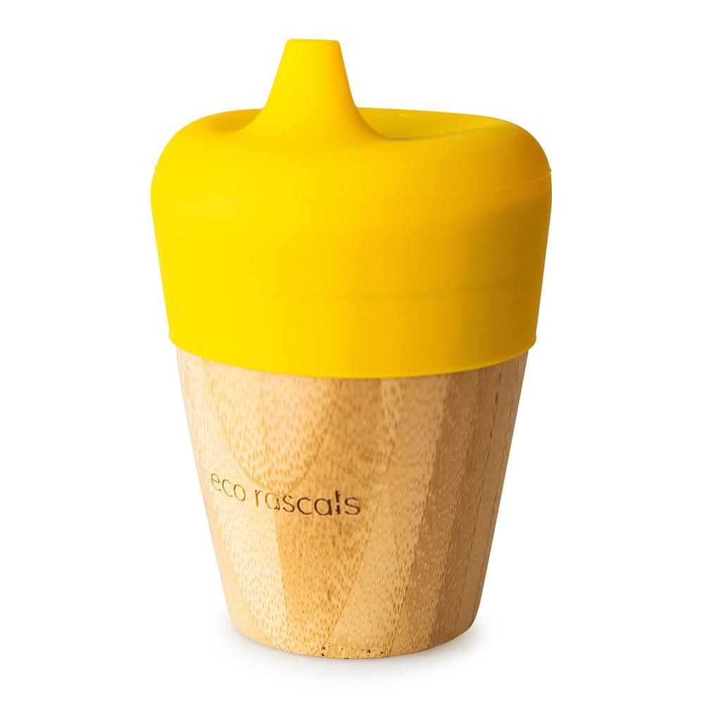 Bamboo cup (190ml) with sippy feeder - Gold