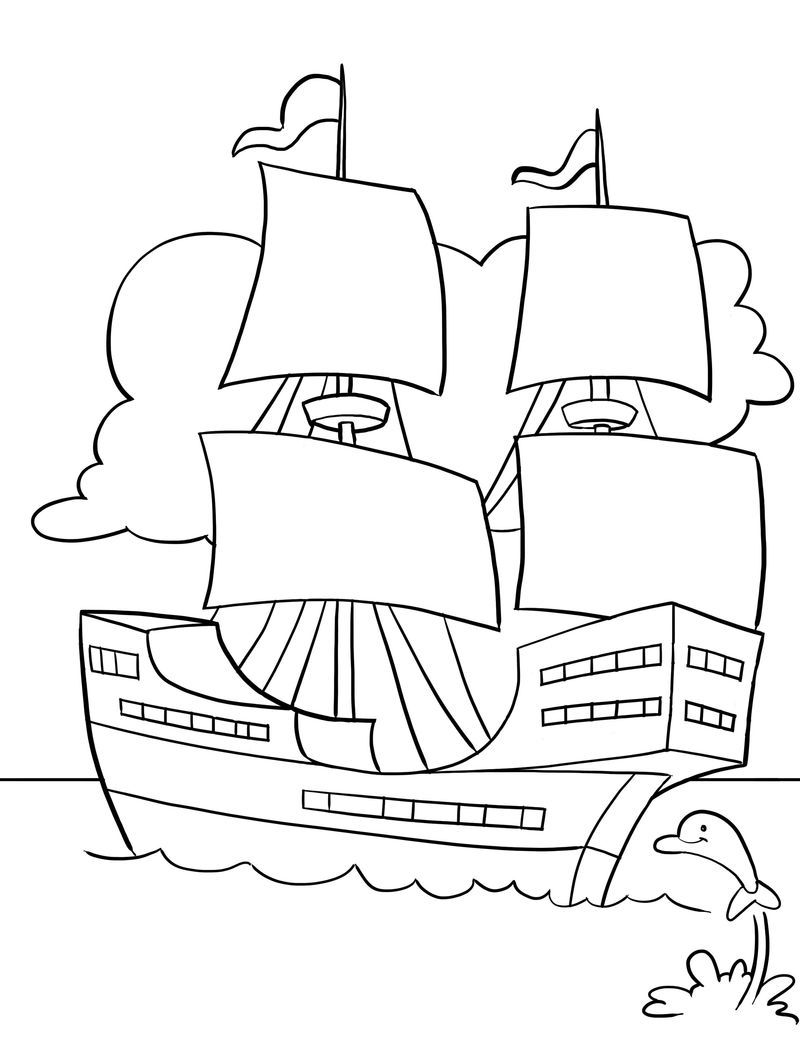 Printable Mayflower Coloring Pages Warna Gambar Anak