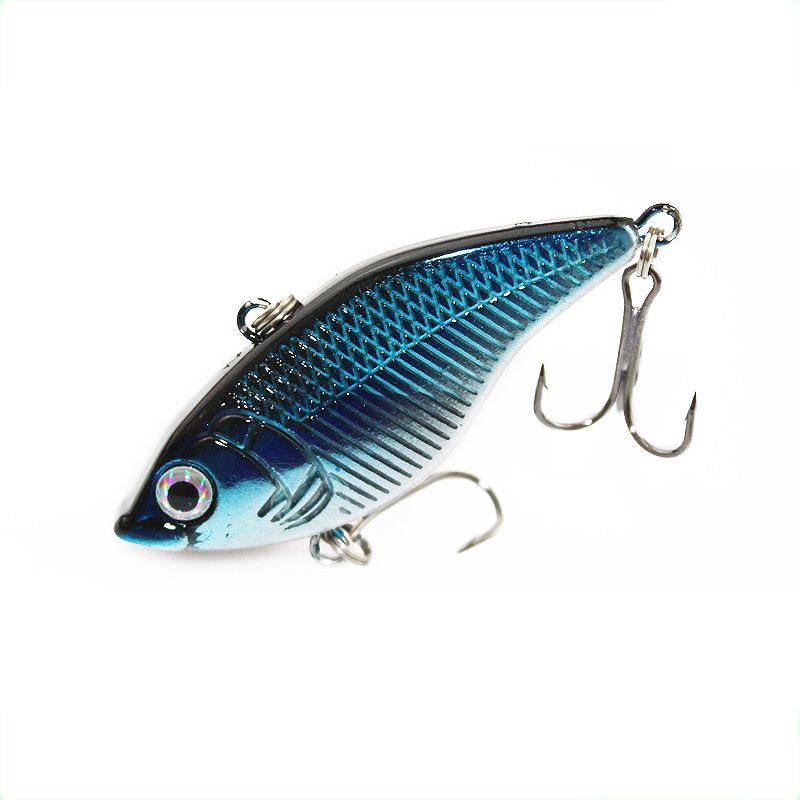 1 Unids Rattlin Vib Señuelo de la Pesca Duro Cebo 5 cm 14.5g Artificial Señuelos 6 # Ganchos Vibración Woofer