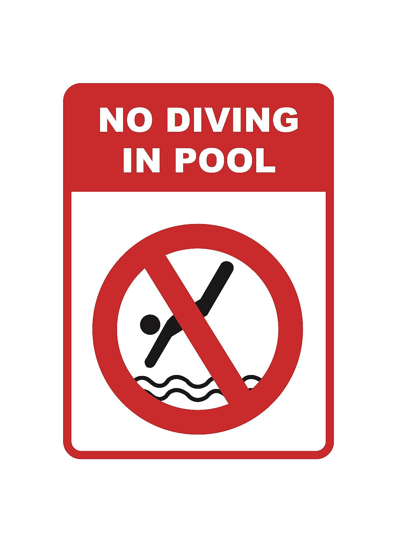 No Diving In Pool\