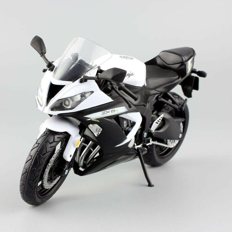 1 12 Scale Automaxx Kawasaki Ninja Zx6r Motorcycle Model Diecast Metal Toy Bike Ad Ad Kawasaki Ninja Zx6r