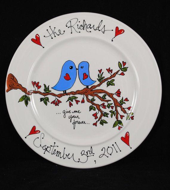 Items similar to Personalized Wedding Gift Gift for Couple Bridal Shower Gift. Custom Wedding Gift Wedding Shower Gift Fiance Gift on Etsy & Personalized wedding gift ceramic plate by HermansCreations | Stuff ...