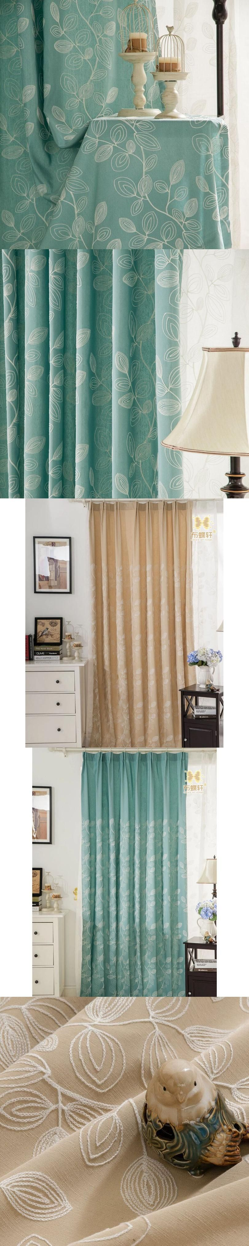 Korean Pastoral Style 3D Embroidery Linen Curtains For Living Room ...