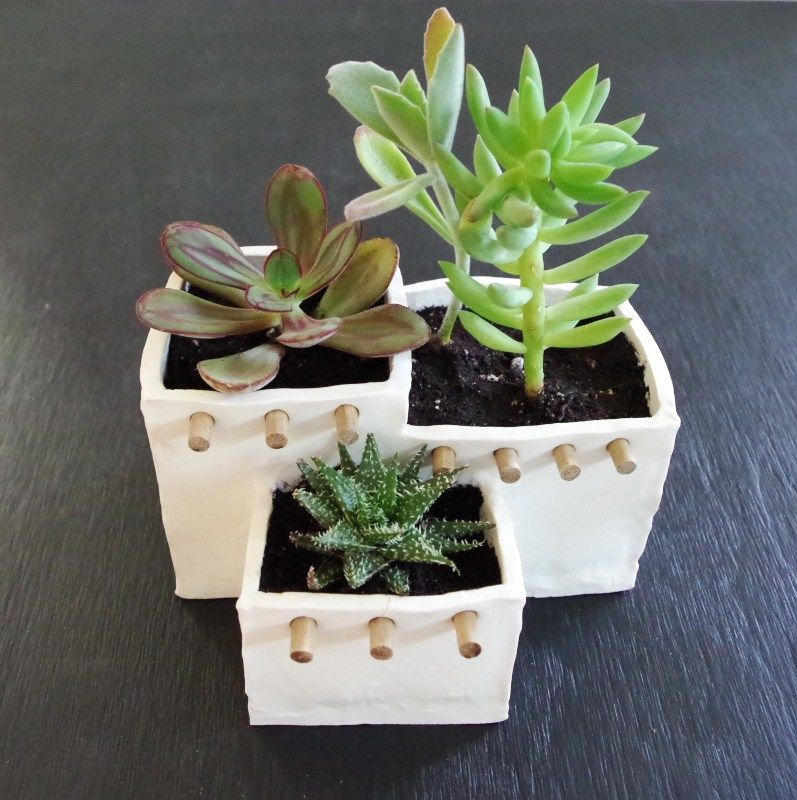 Adobe House Planter Out Of Oven Bake Clay   Oven bake clay ...