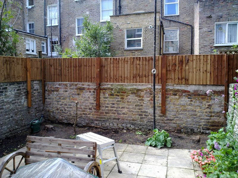Attaching Fence Post To Brick Wall Google Search Privacy Landscaping Backyard Fences