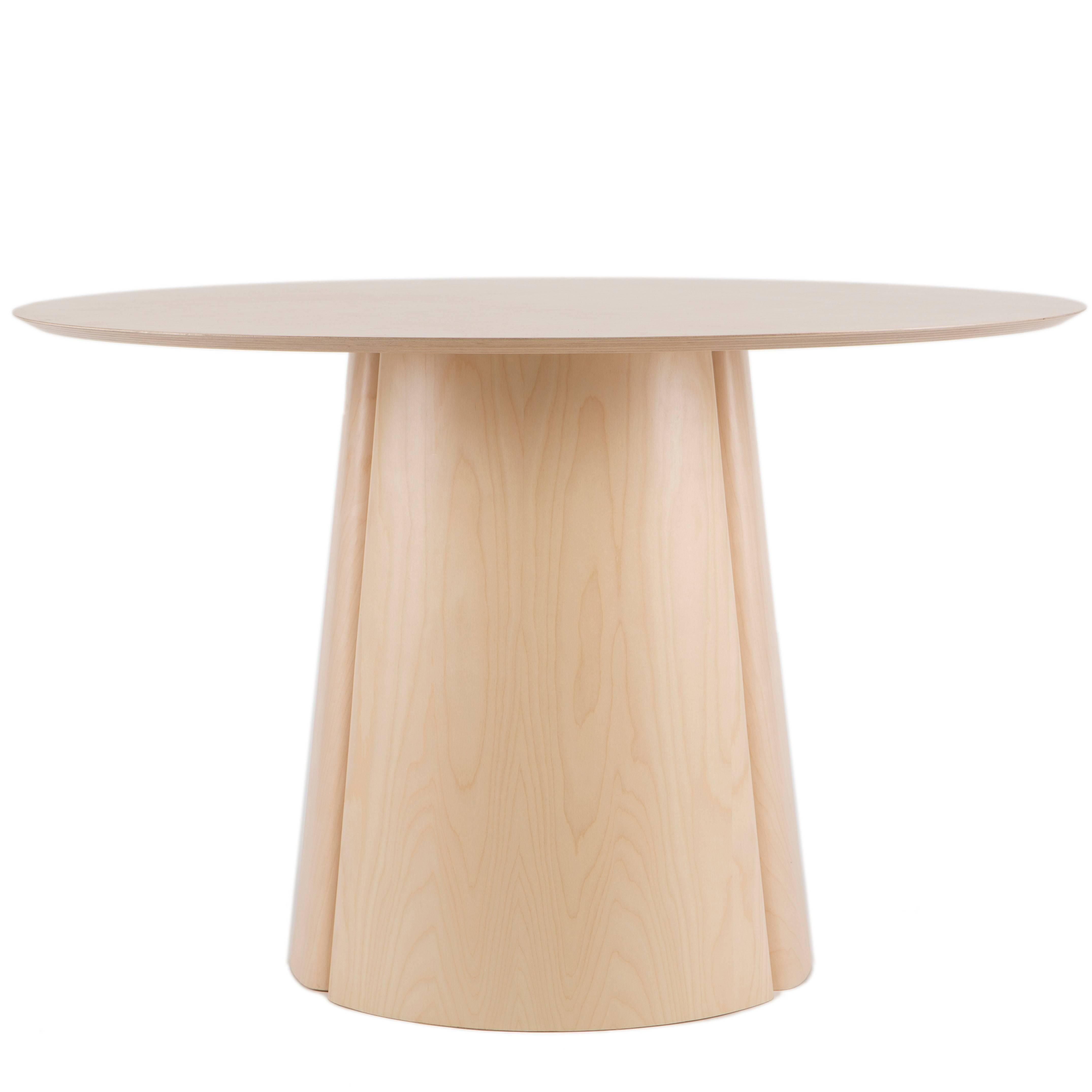Round Black Stained Maple Column Dining Table By Blacktable Studio Wood Dining Room Table Dining Room Table Wood Dining Room