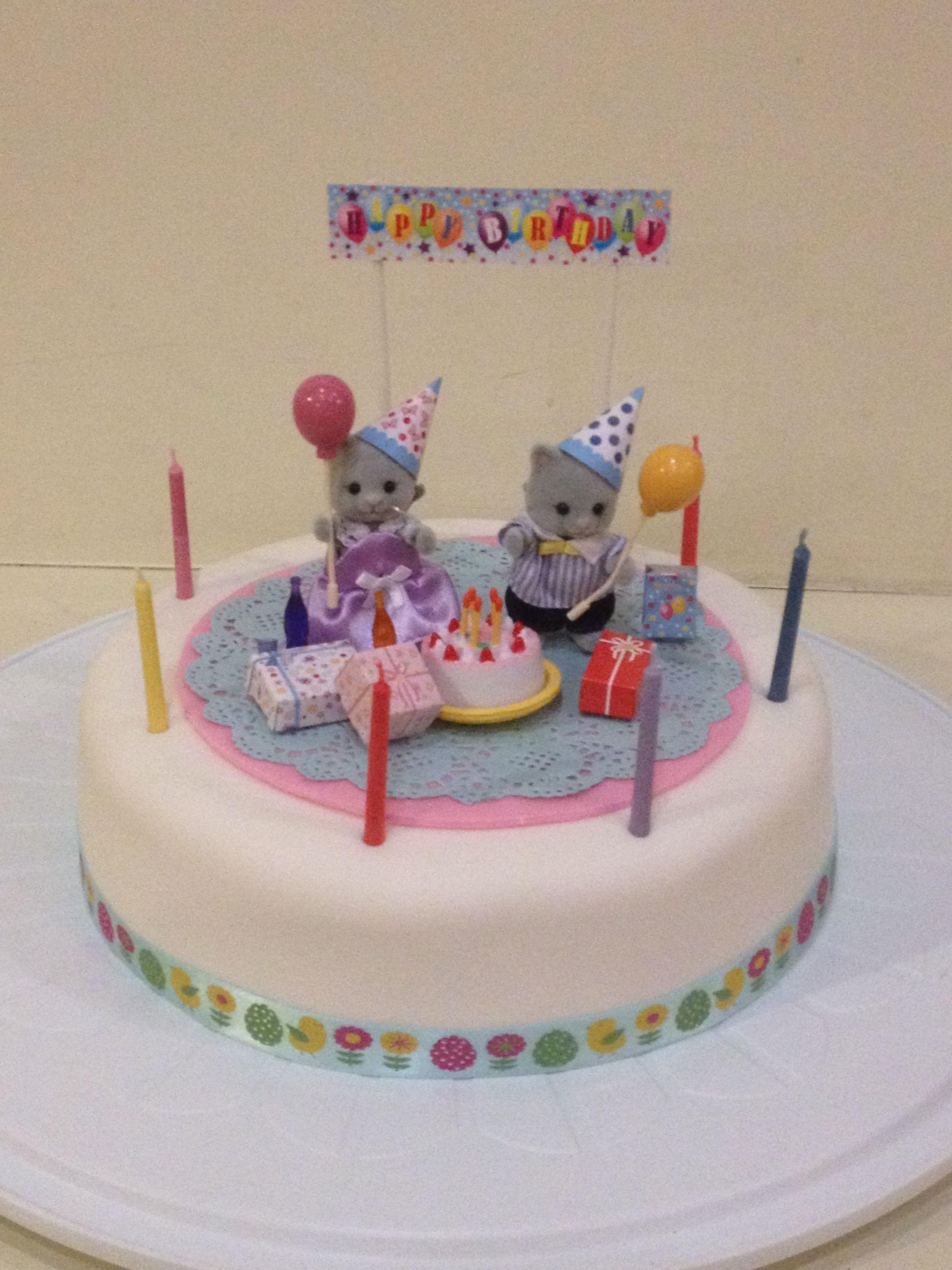 Sylvanian Families Birthday Cake Family Birthdays